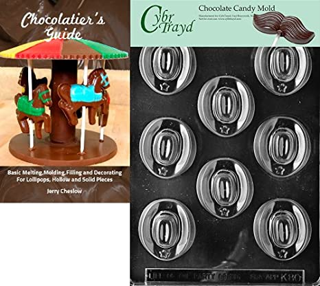 9x12 25 Gold and 25 Silver Twist Ties and Chocolate Molding Instructions Cybrtrayd Cowboy Hats Kids Chocolate Candy Mold with Chocolatiers Bundle of 50 Cello Bags Clear