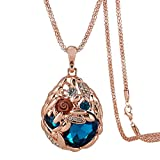 Hen night Austrian Crystal Rose Gold Wheat Shape Pendant Necklace.The Treasure In Cornfield