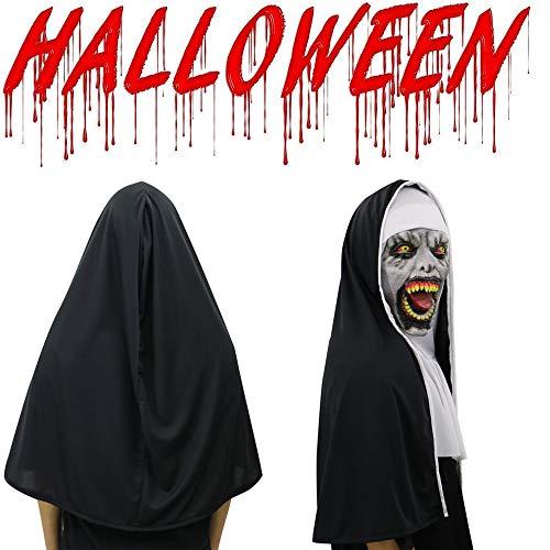 BOOMdan Halloween Masquerade Cosplay Scary Horrible Nun Mask