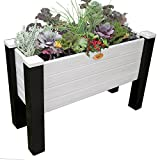 Gronomics MFEGB 18-48 BG Maintenance Free Elevated Garden Bed, 18'' x 48'' x 32''/12.5'', Black/Gray