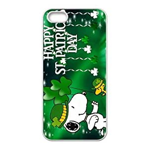 iPhone 5 5S Case White Snoopy Green Cell Phone Case Cover L8U2GD