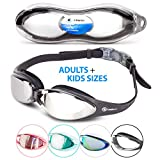 i-Sports Pro i Swim Pro Swimming Goggles – Adult and Kids Sizes – No Leaking, Anti-Fog, UV Protection, Crystal Clear Vision with Protective Case – Comfortable Fit Men, Women, Youth