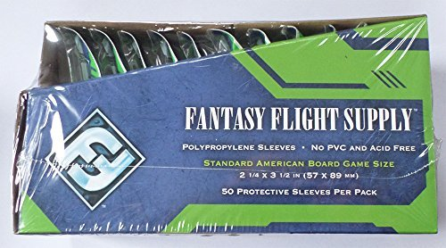 Fantasy Flight Games 500 Standard American Board Game Size Sleeves - 10 Packs + Box - Usa - Ffs03 57 X 89
