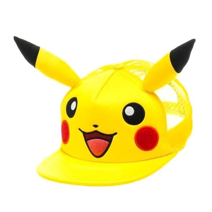 Oficial Pokémon Pikachu carácter béisbol Snapback sombrero con orejas 3D - un tamaño: Amazon.es: Ropa y accesorios