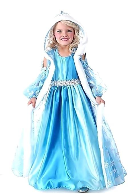 Disfraz de Elsa - carnaval - halloween - niña - capucha - talla 100-2/3 años - idea de regalo para navidad y cumpleaños