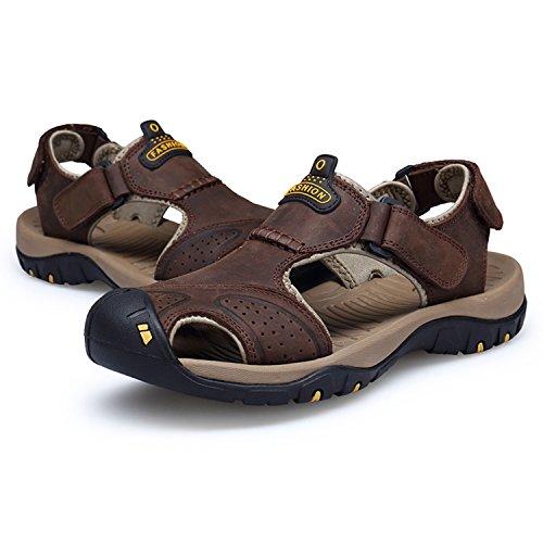 Calzature Da Coffee Da Esterno Uomo Uomo Shoes Pelle Walking HGDR Sportivi Walking Estivi Da In Trekking Sandali Sandali Chiusi wYUnxwOqP