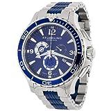 Stuhrling Original Men's 270.332U76 Exclusive Trekker Sportsman Swiss Chronograph Blue Dial Watch
