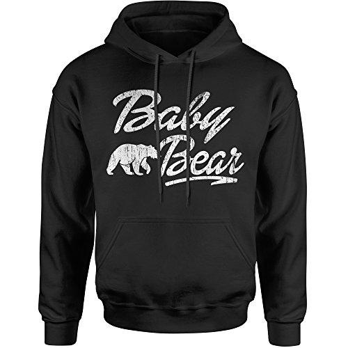 Baby Adult Sweatshirt - Hoodie Baby Bear Adult Large Black
