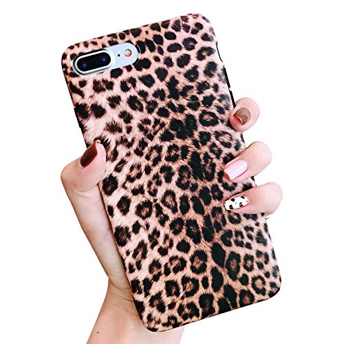 (Jesiya for iPhone 8 Plus/iPhone 7 Plus Case Leopard Print Pattern Case Fashion Luxury Cheetah Ultra-Thin Soft TPU Silicone Shockproof Cover for iPhone 8 Plus/iPhone 7 Plus)