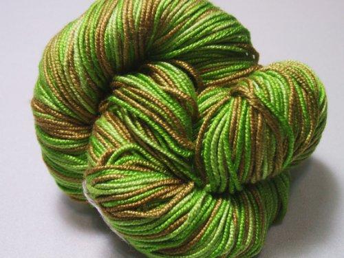 100% Pure Mulberry Lyba Silk Yarn 50 gram 4 Ply DK 017 Irish Moss ()