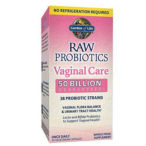 (Garden of Life RAW Probiotics Vaginal Care Shelf Stable - 50 Billion CFU Guaranteed through Expiration, Acidophilus - Once Daily - Certified Gluten Free - No Refrigeration - 30 Vegetarian Capsules)