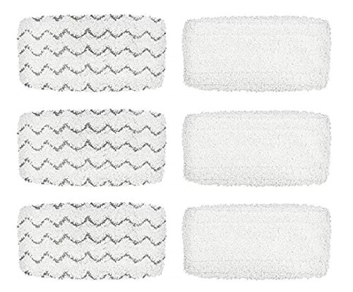 SG Steam Mop Refill Pads for Bissell 1252 1606670 1543 1652 1132M 1530 11326 Symphony Hard Floor Vacuum Steam Cleaner Series (Pack of 6) Softgear