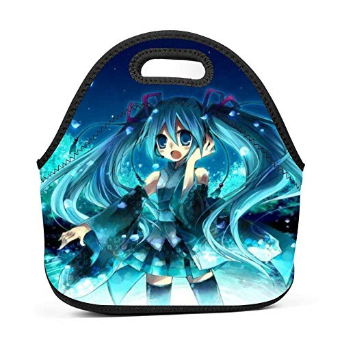 Hatsune Miku Insulated Thermal Cooler Tote Lunch Bag Bento Bag Picnic Box for Adults Kids