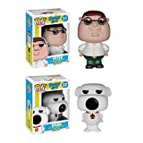 Funko Pop! Animation: Family Guy Collector Bundle with Peter #31 and Brian #32 (2 Items)