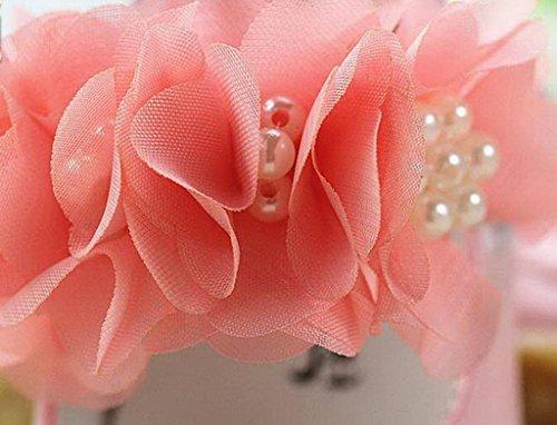 La vogue Große Blume Rosa Rutschfest Halbschuhe Babyschuhe Schuhe Lederpuschen Puschen Krabbelschuhe für Baby Lang:12cm