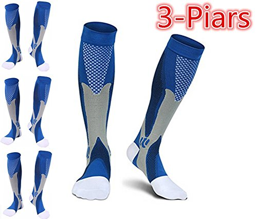 Healthy Compression Socks for Men Women,(Pair Of 3) Running Socks for Nurses Worker