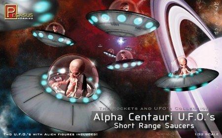 (Alpha Centauri UFOs Short Range Saucers 1-32 Pegasus by Pegasus Hobby)
