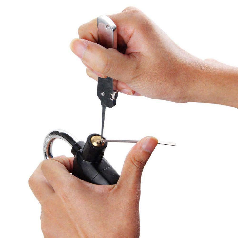 Lockpicking Set Dietrich Set Lock Pick Set F/ür Anf/änger Und Profis Schlosser Silber