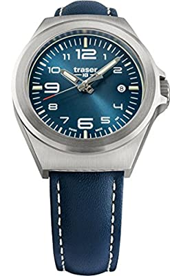 traser P59 Essential S Blue Dial Blue Leather Band Unisex Watch 108208 from Traser