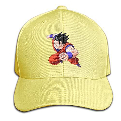 STDONE Personalized Adult Mystic Gohan Dragon Ball Logo Baseball-Cap Funny Cap Yellow