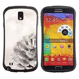 "Hypernova Slim Fit Dual Barniz Protector Caso Case Funda Para Samsung Note 3 [Blanca Acorn Glitter Nieve Navidad""]"