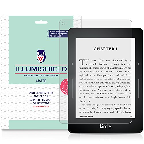 iLLumiShield Matte Screen Protector Compatible with Amazon Kindle Voyage (3-Pack) Anti-Glare Shield Anti-Bubble and Anti-Fingerprint PET Film