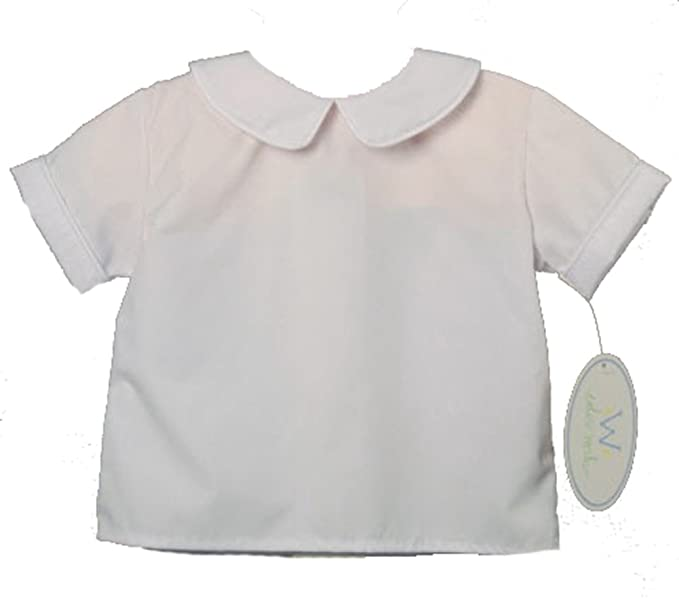 1930s Childrens Fashion: Girls, Boys, Toddler, Baby Costumes Funtasia Too Boys Short Sleeve Back Button Shirt White $36.99 AT vintagedancer.com