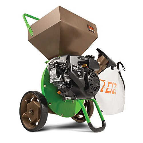 Earthquake Tazz K52 Chipper Shredder, 196cc Gas Powered 4-Cycle Kohler Engine, 5 Year Warranty (Best Wood Chipper For The Money)