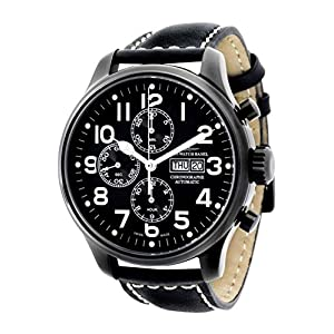 Zeno-Watch Mens Watch - OS Pilot Chrono Day Date black - 8557TVDD-bk-a1