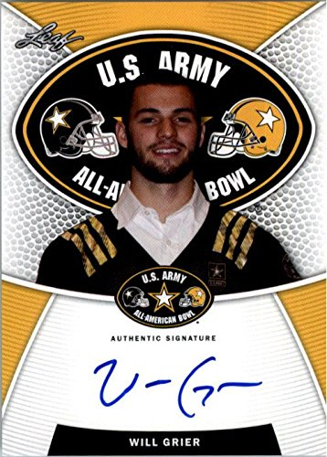 2014 WILL GRIER Leaf US Army Autograph Rookie Auto RC FLORIDA from Leaf