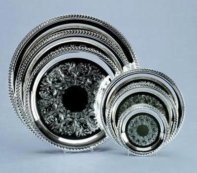 Creative Gifts Gadroon Embossed Tray,silver Plated. (indonesia). by Creative - Tray Embossed Gadroon