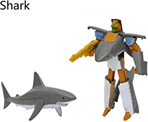 Transformer Marine Animals, Small Plastic Shark Transforming Robot, Party Favors Toys Supplies for Kids