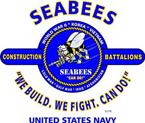 "U.s. Navy Seabees ""we Build, We Fight, Can Do! "" Campaign Sweatshirt"