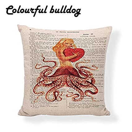 Amazon.com: Printed Queen Cushion Covers Lip Retro Modern ...