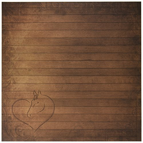 Paper House Productions P-0680E Paper, 12-Inch by 12-Inch, Stable Wood (25-Pack)
