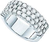 14kt White Gold Womens Round Diamond Band Wedding Anniversary Ring 1-1/2 Cttw