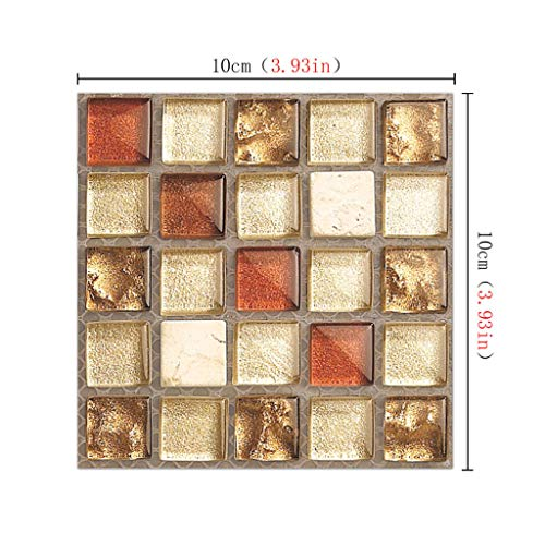 OrchidAmor 20Pcs Self Adhesive Tile Floor Wall Decal Sticker DIY Kitchen Bathroom Decor -