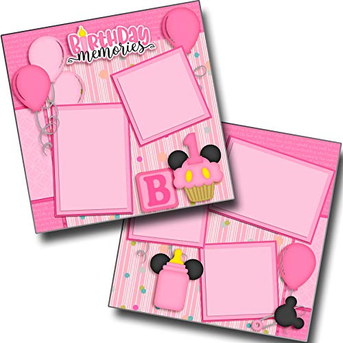 Birthday Memories Girl - Disney - Premade Scrapbook Pages - EZ Layout 3440