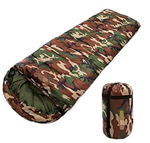 Outdoor Thicker Camouflage Sleeping Bags Camping Office Lunch Break Adult Autumn And Winter Warm