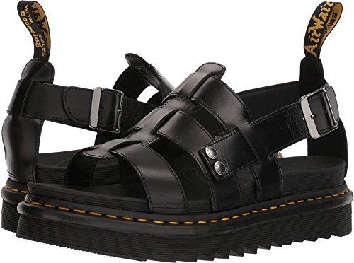 Dr. Martens Terry Black Brando Sandal, 10 Medium UK (US Men's 11 US) Dr Marten Fisherman Sandals
