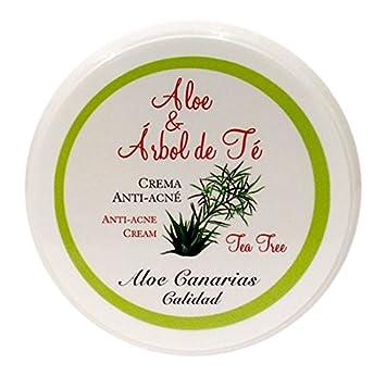 Aloe Canarias 200100 - Crema de aloe vera y limón, hidratante para pieles grasas, 150 ml Cosmonatura