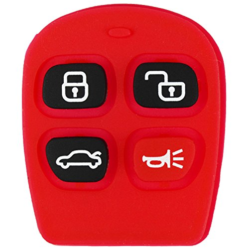 QualityKeylessPlus Replacement 4 Button Trunk Rubber Pad for Kia Remote Key Fob with FREE KEYTAG