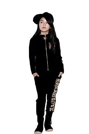 95c604da5d9ed 女の子 男の子 スポーツウェア HIPHOP 男女兼用 子供服 スポーツ カジュアル パーカー フード付き ダンス衣装