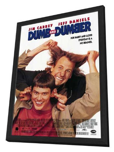 Amazon com: Dumb and Dumber - 27 x 40 Framed Movie Poster: Posters