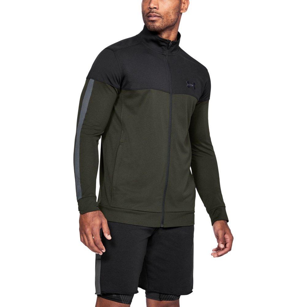 Under Armour Men's Sportstyle Pique Jacket, Artillery Green (357)/Black, XXX-Large