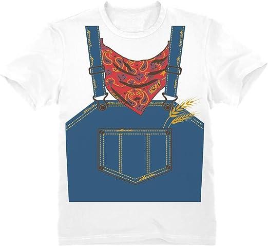 Camiseta para niños - - Rápido y Sencillo Disfraz de Granjero para ...