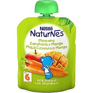 Nestlé Naturnes - Bolsitas de Manzana, Zanahoria y Mango