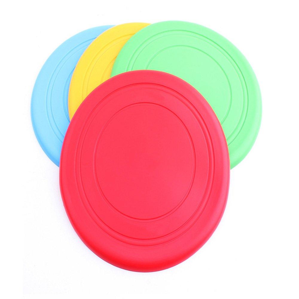 vikenner plegable silicona Pet Dog Frisbee disco volador diente Resistan entrenamiento del perro Fetch juguete color al azar