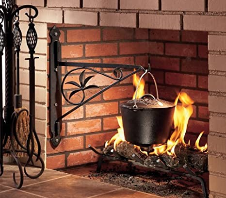 amazon com minuteman international mc 18 fireplace crane 18 inch rh amazon com  cast iron fireplace cooking crane