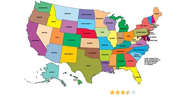 Amazon Com United States Map Glossy Poster Picture Photo America